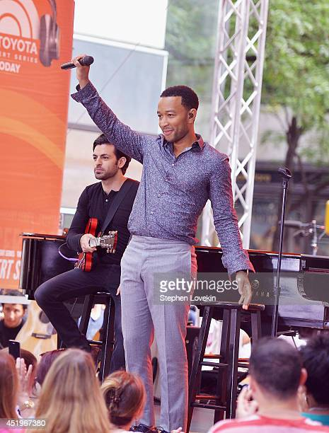 Singer/musician John Legend performs on NBC's 'Today' at the NBC's TODAY Show on July 10 2014 in New York New York