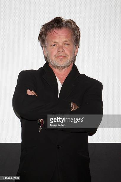 Singer/musician John Mellencamp speaks after a screening of It's About You during the South By Southwest Film Festival at the Alamo Drafthouse on...