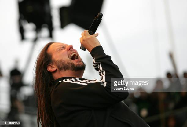 Singer/musician Jonathan Davis of Korn performs during the 2011 Rock On The Range festival at Crew Stadium on May 21 2011 in Columbus Ohio