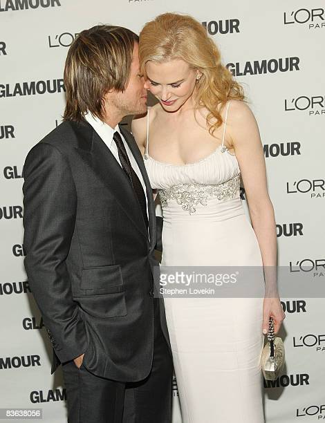 Singer/musician Keith Urban and wife actress Nicole Kidman attend the 2008 Glamour Women of the Year Awards at Carnegie Hall on November 10 2008 in...