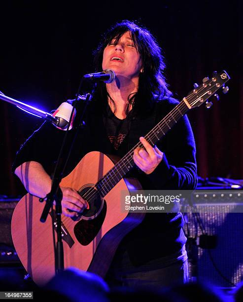 Singer/musician Kim Deal of The Breeders performs at The Bell House on March 29 2013 in the Brooklyln borough of New York City