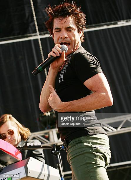 Singer/musician Patrick Monahan of the band Train performs at Dick's Sporting Goods Park on August 15 2010 in Commerce City Colorado