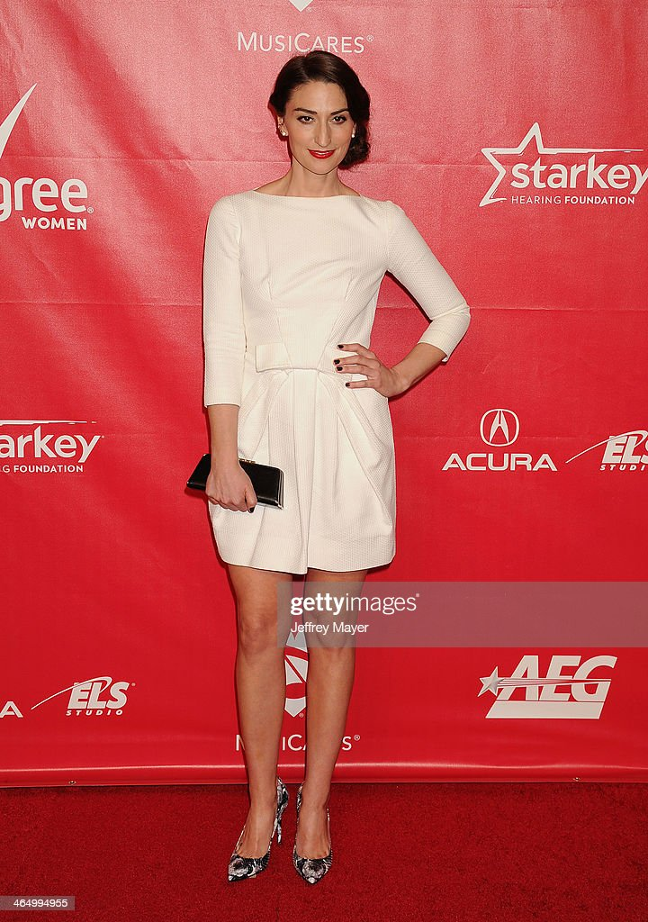 Singer/musician Sara Bareilles attends 2014 MusiCares Person Of The Year Honoring Carole King at Los Angeles Convention Center on January 24, 2014 in Los Angeles, California.