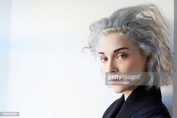 Singer/musician St Vincent is photographed for The Observer Newspaper on January 7 2014 in New York City