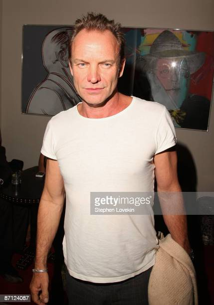 Singer/musician Sting attends the after party for the Cinema Society the Wall Street Journal with Brooks Brothers JaegerLeCoultre screening of Easy...