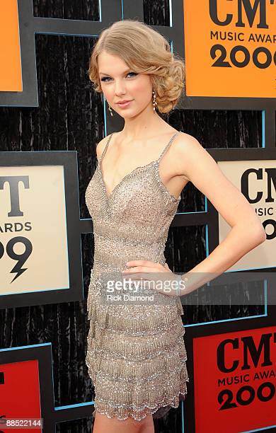 Singer/musician Taylor Swift attends the 2009 CMT Music Awards at the Sommet Center on June 16 2009 in Nashville Tennessee