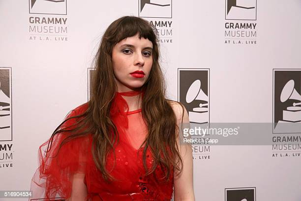 Singer/musician Teri Gender Bender of Le Butcherettes attends Spotlight Le Butcherettes at The GRAMMY Museum on March 21 2016 in Los Angeles...