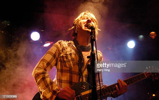Singer/musician Tom Hill of Purple Melon performs in concert at The Viper Room on August 19 2011 in West Hollywood California