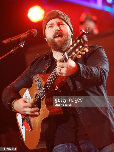 Singer/musician Zac Brown of Zac Brown Band performs at Sprint Center on February 15 2013 in Kansas City Missouri