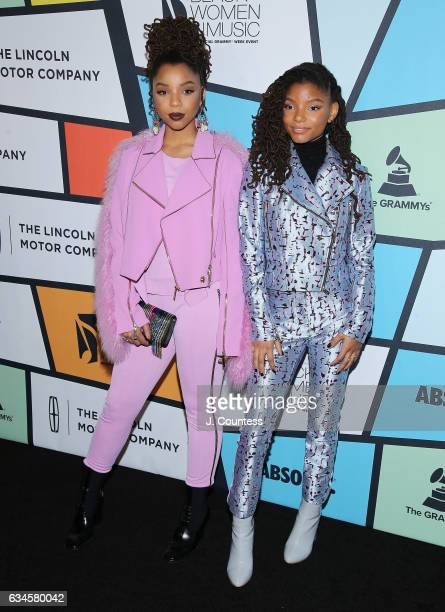 Singer/musicians Chloe Bailey and Halle Bailey attend the 8th Annual Essence Black Women In Music Event at NeueHouse Hollywood on February 9, 2017 in...
