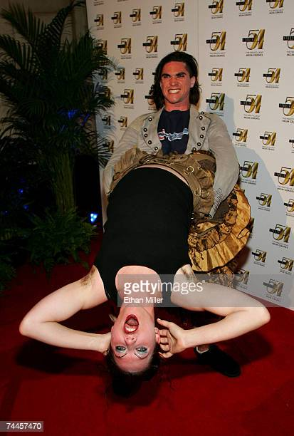 Singer/pianist Amanda Palmer and drummer Brian Viglione from the band The Dresden Dolls attend the official True Colors Tour after party at Studio 54...
