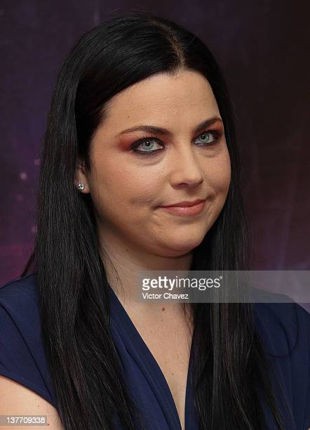 Singer/pianist Amy Lee of Evanescence attends a press conference at Hotel Camino Real on January 25 2012 in Mexico City Mexico