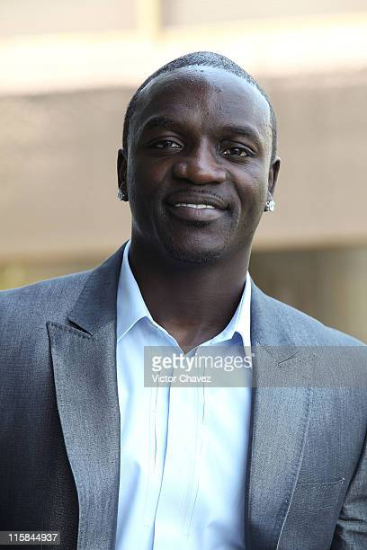 """Singer-Producer Akon promotes his album """"Freedom"""" at the Great Room Hotel W on March 31, 2009 in Mexico City."""