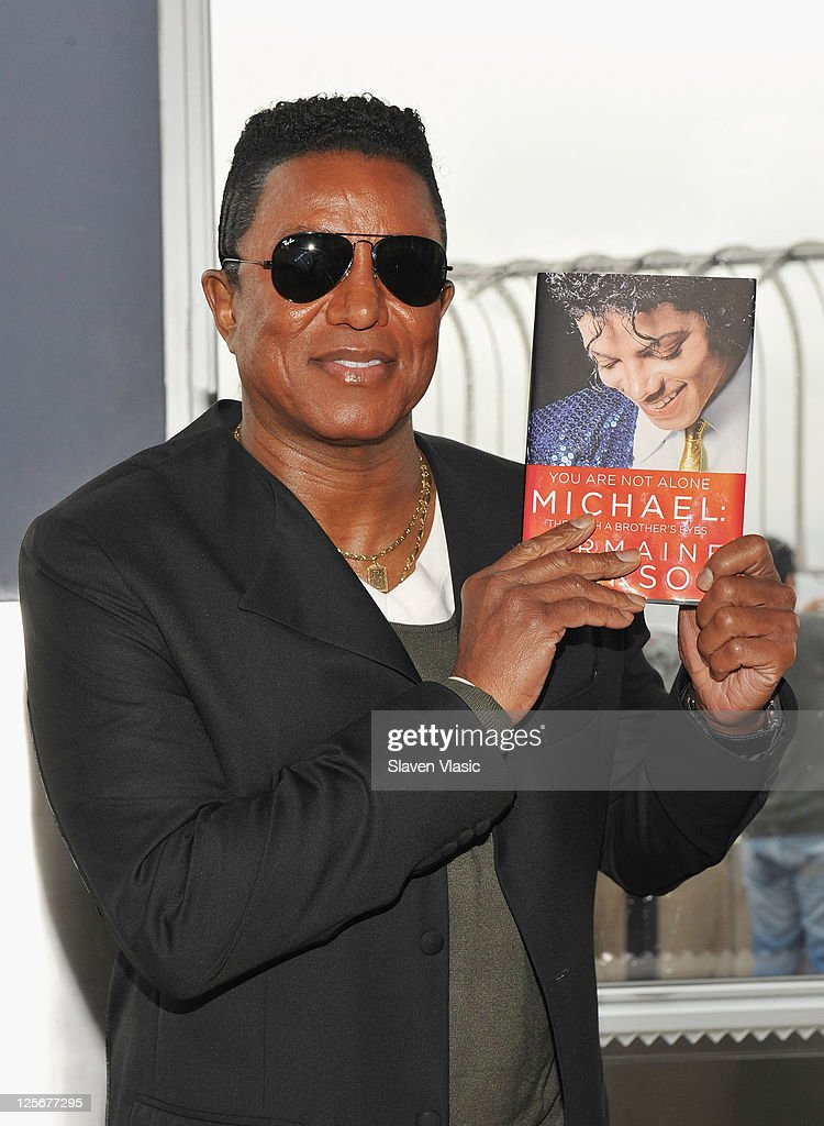 Singer/producer Jermaine Jackson, promotes his memoir about late brother Michael Jackson 'You are not alone Michael' as he visits The Empire State Building on September 20, 2011 in New York City.