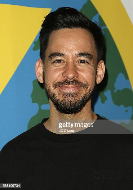 Singer/producer Mike Shinoda attends Music For Relief Power The World Backyard Festival at The Paramour Estate on June 4 2016 in Los Angeles...