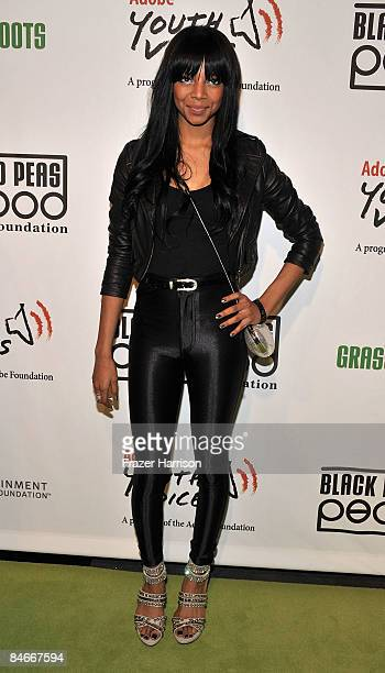 Singerr Alycia Bellamy arrives at the 5th Annual Peapod Foundation Benefit Concert held on February 5 2009 at the Conga Club at LA Live Downtown Los...
