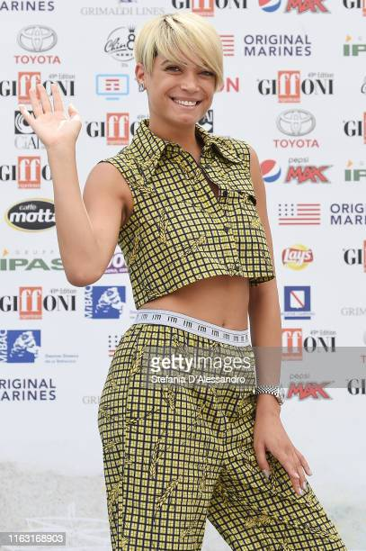 Singerr Elodie a ttends Giffoni Film Festival 2019 on July 20 2019 in Giffoni Valle Piana Italy
