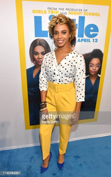 Singer/radio personality Jade Novah attends Little Atlanta red carpet screening at Regal Atlantic Station on April 04 2019 in Atlanta Georgia