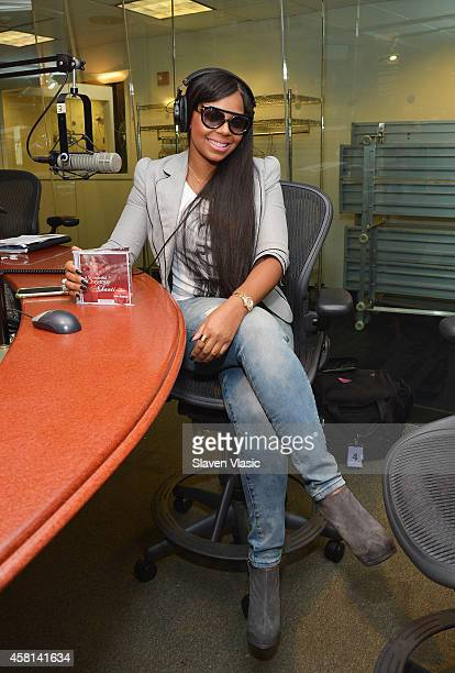 Singer/record producer Ashanti visits SiriusXM Studios on October 30 2014 in New York City