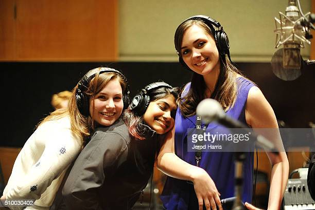 Singers Abigail Berry Sharada Shashidhar and Kara Walton at the 58th GRAMMY Awards GRAMMY Camp Jazz Session CD Recording at Capitol Records Studio on...