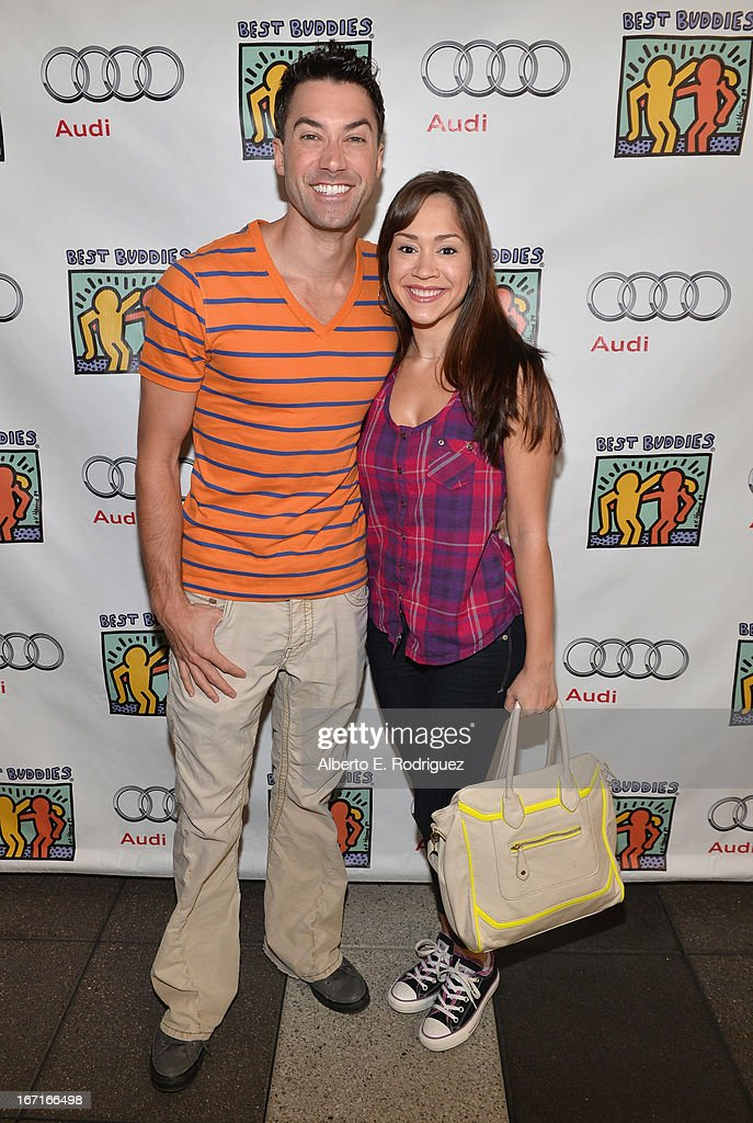 Singers Ace Yoyng and Diana Degarmo attend the Best Buddies' Bowling For Buddies Event at Lucky Strike Lanes at L.A. Live on April 21, 2013 in Los Angeles, California.