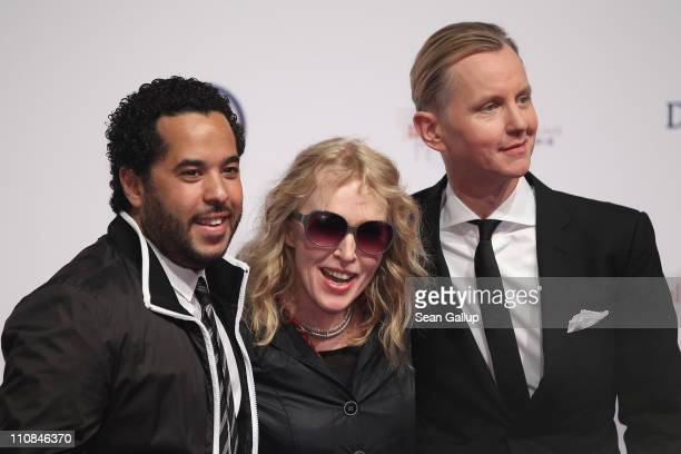 Singers Adel Tawil Annette Humpe and Max Raabe attend the Echo Awards 2011 at Palais am Funkturm on March 24 2011 in Berlin Germany