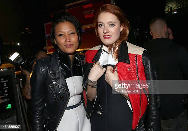 Singers Aino Jawo and Caroline Hjelt of Icona Pop attend 106.1 KISS FM's Jingle Ball 2013, at Comcast Arena at Everett on December 8, 2013 in...