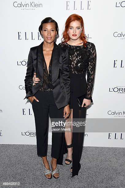 Singers Aino Jawo and Caroline Hjelt of Icona Pop attend the 22nd Annual ELLE Women in Hollywood Awards at Four Seasons Hotel Los Angeles at Beverly...
