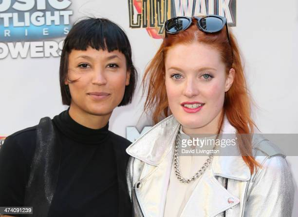 Singers Aino Jawo and Caroline Hjelt of Icona Pop attend the Icona Pop, Mystery Skulls, My Crazy Girlfriend and Blake Michael performance at...