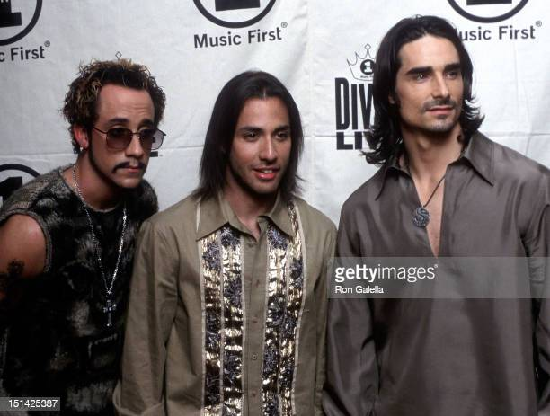 Singers AJ McLean Howie Dorough and Kevin Richardson of the Backstreet Boys attend the VH1 Concert Special 'Divas Live The One and Only Aretha...