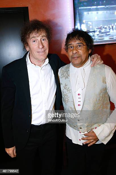 Singers Alain Souchon and Laurent Voulzy attend the '10th Charity Gala Against Alzheimer's Disease Two Generations sing for the third' Held at...