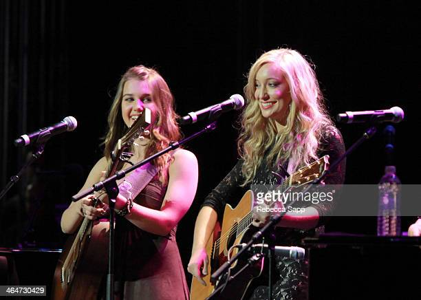 Singers Alaina Stacey and Katy Bishop of Maybe April perform at 'A Song Is Born' the 16th Annual GRAMMY Foundation Legacy Concert held at the...
