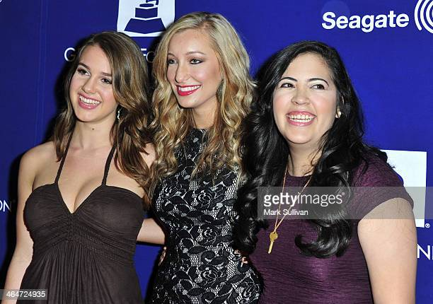 Singers Alaina Stacey Katy Bishop and Kristen Castro of Maybe April attend 'A Song Is Born' the 16th Annual GRAMMY Foundation Legacy Concert held at...