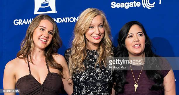 Singers Alaina Stacey Katy Bishop and Kristen Castro of Maybe April attend 'A Song Is Born' 16th Annual GRAMMY Foundation Legacy Concert Arrivals at...