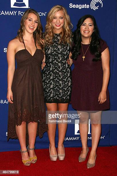 Singers Alaina Stacey Katy Bishop and Kristen Castro of musical group 'Maybe April' attend the 'A Song Is Born' 16th Annual GRAMMY Foundation Legacy...