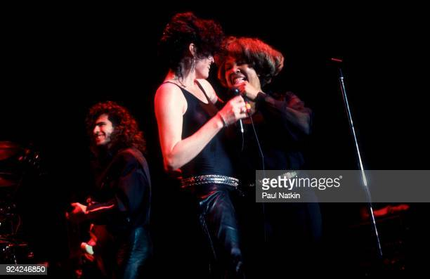 Singers Alanah Myles left and Mavis Staples performing at the Park West in Chicago Illinois April 14 1990