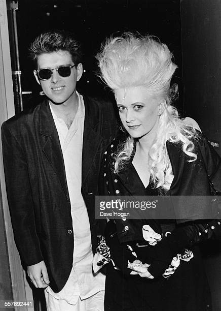 Singers Alannah Currie and Tom Bailey of the band 'Thompson Twins' at the Limelight Club in London July 17th 1986