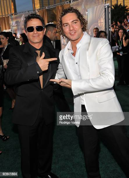 Singers Alejandro Sanz and David Bisbal attend the 10th Annual Latin GRAMMY Awards held at the Mandalay Bay Events Center on November 5 2009 in Las...