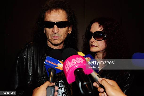 Singers Alex Lora and Chela Lora hold a press conference to speak about their daughter Celia who remains jailed after running over a man with her car...
