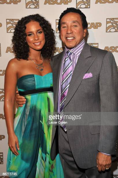 Singers Alicia Keys and Smokey Robinson pose in the press room during the 22nd annual ASCAP Rhythm and Soul Awards held at The Beverly Hilton Hotel...