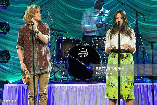 Singers Allen Stone and Rozzi Crane perform during BMI's 61st Annual Pop Awards at the Beverly Wilshire Four Seasons Hotel on May 14 2013 in Beverly...