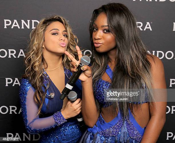 Singers Ally Brooke and Normani Kordei of Fifth Harmony attend PANDORA SUMMER CRUSH 2015 at LA LIVE on August 15 2015 in Los Angeles California