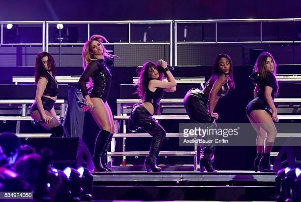 Singers Ally Brooke, Dinah-Jane Hansen, Camila Cabello, Normani Kordei and Lauren Jauregui of Fifth Harmony perform at 102.7 KIIS FM's Wango Tango...