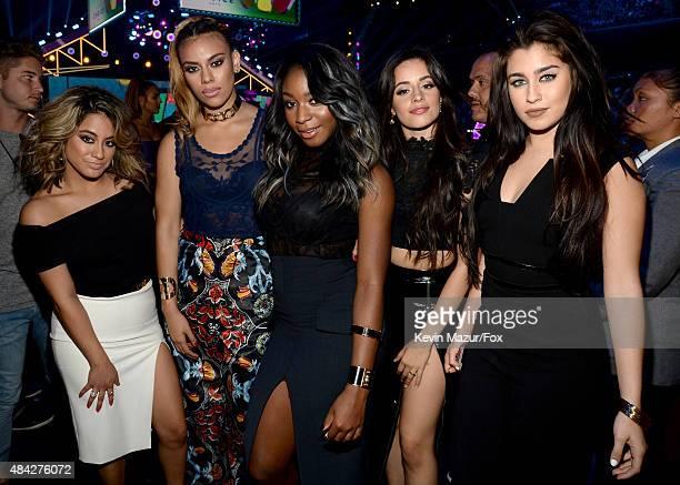 Singers Ally Brooke Hernandez, Dinah Jane Hansen, Normani Kordei, Camila Cabello and Lauren Jauregui of Fifth Harmony attend the Teen Choice Awards...