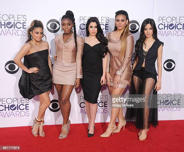 Singers Ally Brooke Hernandez Normani Hamilton Lauren Jauregui Dinah Jane Hansen and Camila Cabello of Fifth Harmony arrive at The 41st Annual...