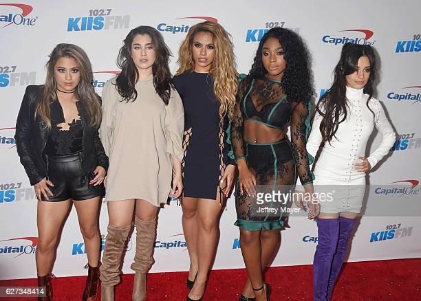 Singers Ally Brooke, Lauren Jauregui, Dinah Jane Hansen, Normani Hamilton and Camila Cabello of Fifth Harmony attend 102.7 KIIS FM's Jingle Ball 2016...