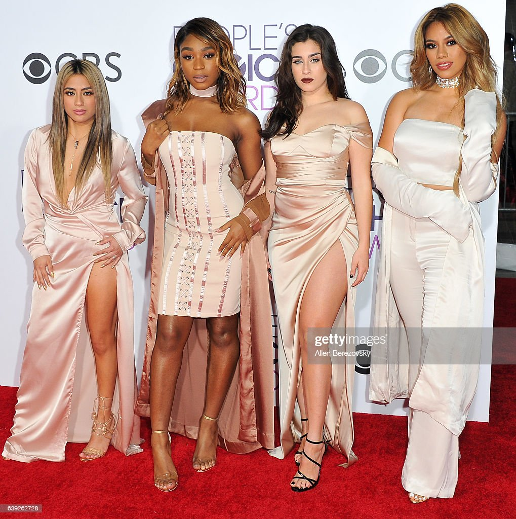Singers Ally Brooke, Normani Hamilton, Dinah Jane Hansen and Lauren Jauregui of Fifth Harmony arrive at People's Choice Awards 2017 at Microsoft Theater on January 18, 2017 in Los Angeles, California.