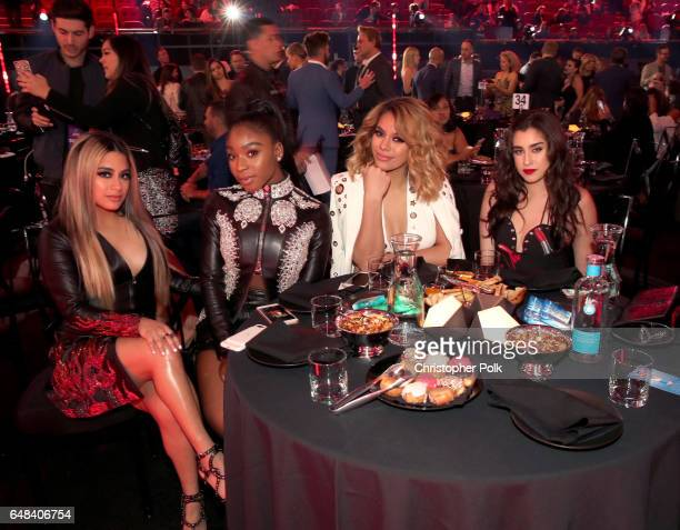 Singers Ally Brooke Normani Kordei Dinah Jane and Lauren Jauregui of music group Fifth Harmony attend the 2017 iHeartRadio Music Awards which...