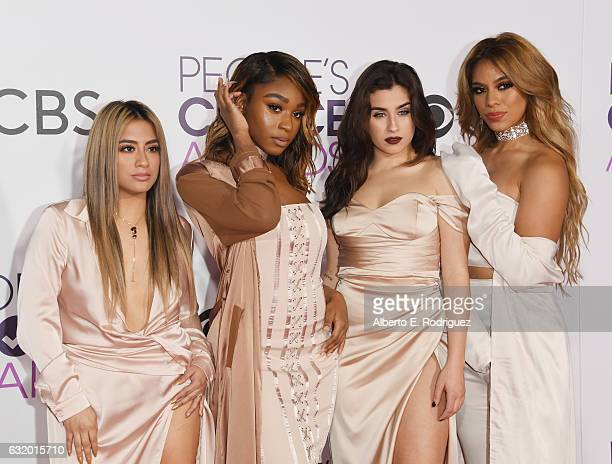 Singers Ally Brooke Normani Kordei Lauren Jauregui and Dinah Jane of Fifth Harmony attend the People's Choice Awards 2017 at Microsoft Theater on...