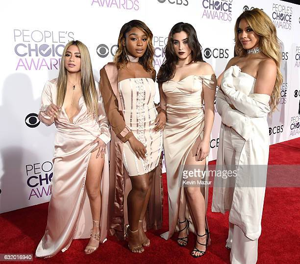 Singers Ally Brooke, Normani Kordei, Lauren Jauregui, and Dinah Jane of Fifth Harmony attend the People's Choice Awards 2017 at Microsoft Theater on...